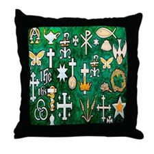Cute Christian christmas Throw Pillow