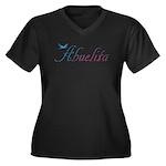 Abuelita Women's Plus Size V-Neck Dark T-Shirt