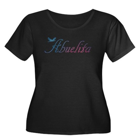 Abuelita Women's Plus Size Scoop Neck Dark T-Shirt