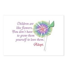 Adoption Flowers Postcards (Package of 8)