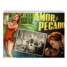 2014 Vintage Mexican Movie Posters Wall Calendar