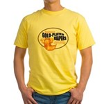 Gold-plated diapers Yellow T-Shirt