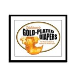 Gold-plated diapers Framed Panel Print