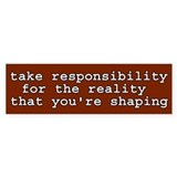 Shaping Reality Bumper Bumper Sticker