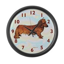 Dachshund Large Wall Clock