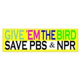 Save PBS Bumper Car Sticker