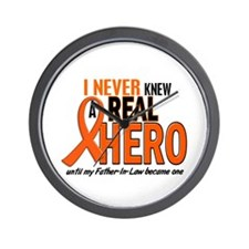 Never Knew A Real Hero 2 ORANGE Wall Clock