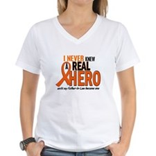 Never Knew A Real Hero 2 ORANGE Shirt