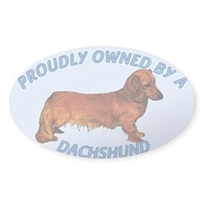 Proudly Owned Dachshund Decal