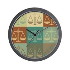 Law Pop Art Wall Clock