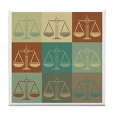 Law Pop Art Tile Coaster