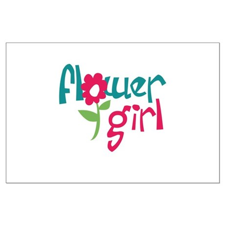 Flower Girl Large Poster