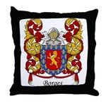 Borges Family Crest Throw Pillow