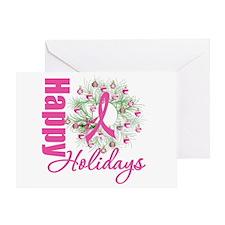 X-Mas PinkRibbon Greeting Card