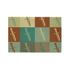 Knives Pop Art Rectangle Magnet
