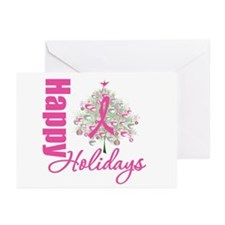 PinkRibbon X-MasTree Greeting Cards (Pk of 20)