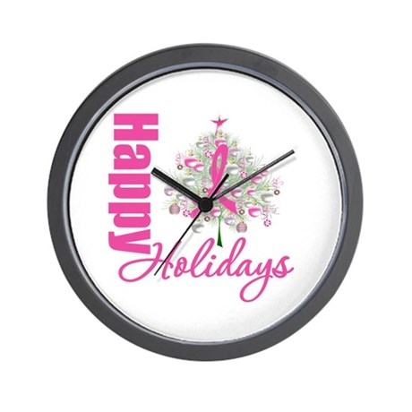 PinkRibbon X-MasTree Wall Clock