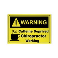Caffeine Warning Chiropractor Rectangle Magnet (10