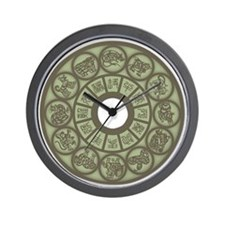 Chinese Zodiac Coin Wall Clock
