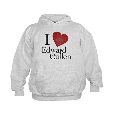 I Love Edward Cullen Kids Hoodie