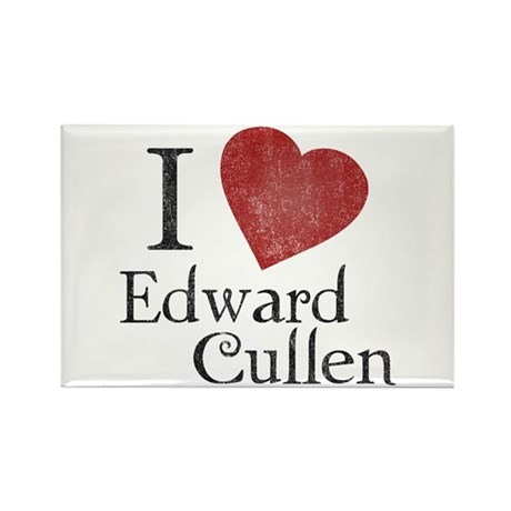 I Love Edward Cullen Rectangle Magnet