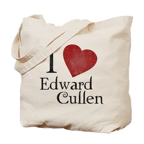 I Love Edward Cullen Tote Bag