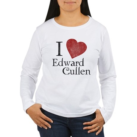 I Love Edward Cullen Womens Long Sleeve T-Shirt