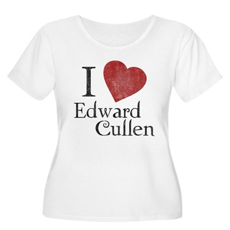 I Love Edward Cullen Womens Plus Size Scoop Neck
