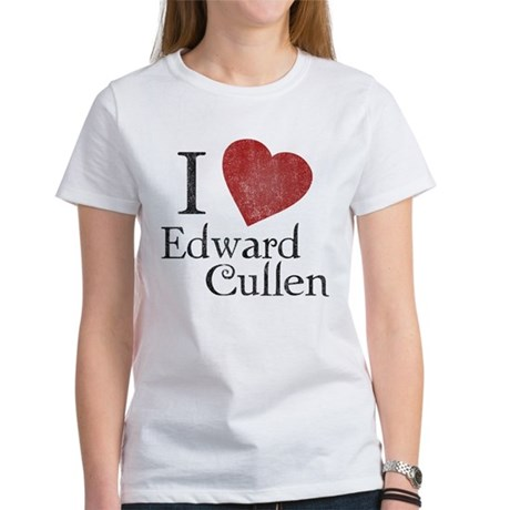 I Love Edward Cullen Womens T-Shirt