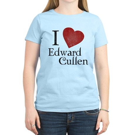 I Love Edward Cullen Womens Light T-Shirt