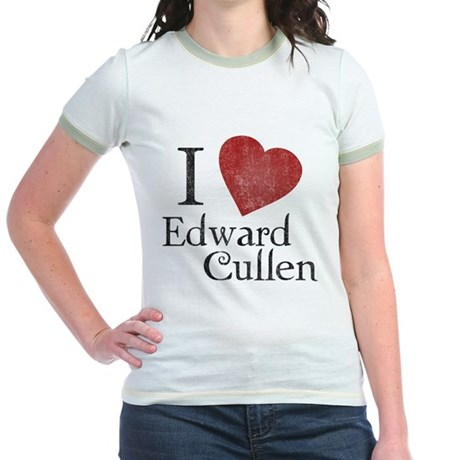 I Love Edward Cullen Jr Ringer T-Shirt