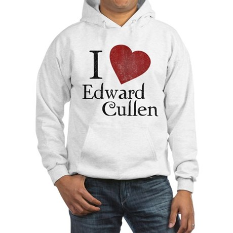 I Love Edward Cullen Hooded Sweatshirt