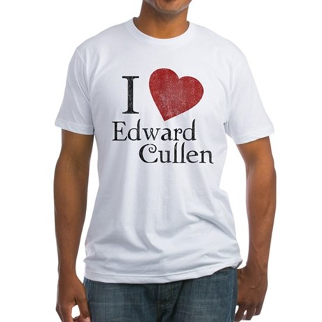 I Love Edward Cullen Fitted T-Shirt