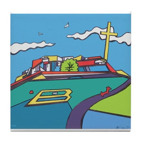 Tablerock Cross, Spiritual Jo Tile Coaster
