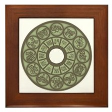 Chinese Zodiac Coin Framed Tile