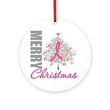 PinkRibbon X-MasTree Ornament (Round)