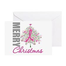 PinkRibbon X-MasTree Greeting Card