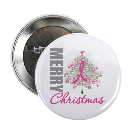 "PinkRibbon X-MasTree 2.25"" Button (10 pack)"