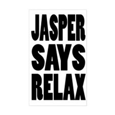 Jasper Says Relax Rectangle Decal