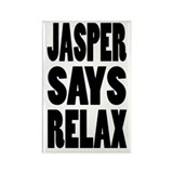Jasper Says Relax Rectangle Magnet