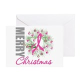 PinkRibbonWreath Greeting Card