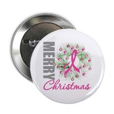"PinkRibbonWreath 2.25"" Button (100 pack)"