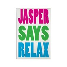 Jasper Says Relax (Color) Rectangle Magnet