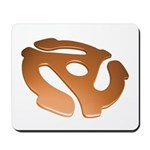 Orange 3D 45 RPM Adapter Mousepad