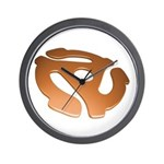 Orange 3D 45 RPM Adapter Wall Clock