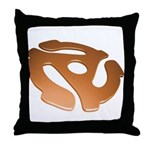 Orange 3D 45 RPM Adapter Throw Pillow