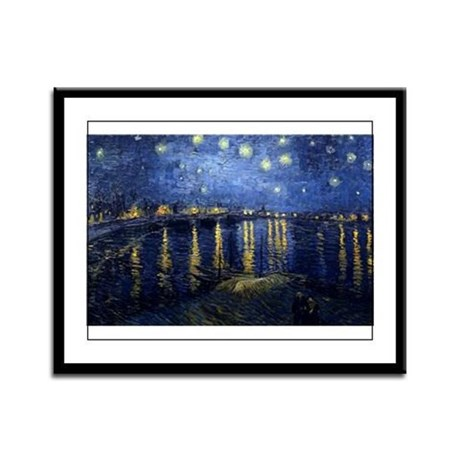 Starry Night Over the Rhone Framed Panel Print