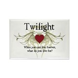 Twilight Live Forever Rectangle Magnet (100 pack)