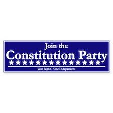 Constitution Party Bumper Sticker (50 pk)