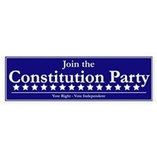 Constitution Party Bumper Sticker (10 pk)